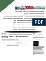 Atualização Androide Jelly Bean 4.3