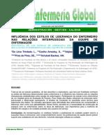 Influencia de Los Estilos de Liderazgo Del Enfermero en Las Relaciones Interpersonales Del Equipo de Enfermería