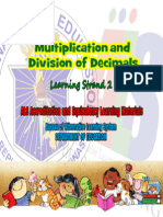 Multiplication and Division of Decimals