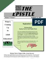 August 2007 Epistle