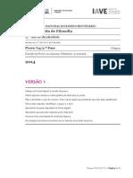 Exame de Filosofia - 2014 / 2ª fase