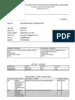 CEC Landran Department of Computer Science & Engineering: Format For