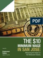 San Jose Minimum Wage Study