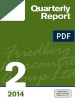 Second Quarter 2014 - Quarterly Report