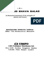 Bhava and Graha Balas