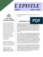 April 2006 Epistle