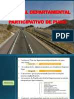 Plan Vial Departamental Participativo de Puno