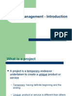 Project Management - Intro