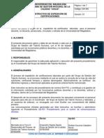 GH-I04 Instructivo de Expedición de Certificaciones