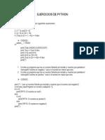 Ejercicios de Python
