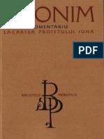 Fericitul Ieronim - Comentariu la cartea Profetului Iona