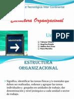 Esctructura Organizacional Unidad V