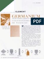 The Unique Element Germanium