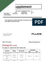 Suplemento Manual FLuke 107 Ingles