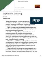 Capitalism vs. Democracy