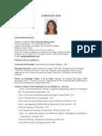C.v. Sara Martin Psicóloga - Docente Enero'14