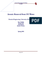 ARSENIC REMOVAL FROM OU WATER