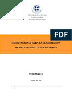 Documento Orientaciones Para La Elaboracion de Programas de Asignatura