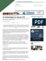 A Criminologia No Século XXI _ Eduardo Luiz Santos Cabette