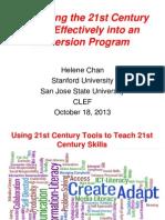 Workshop II Using 21st Century Tools to Teach 21st Century Skills