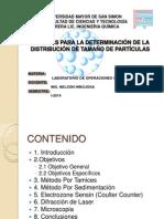 Metodos Para La Determinacion de La Distribucion de Tamaño de Particula. (Expo)