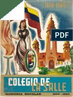 Colegio La Salle,Memoria Escolar 1959-1960