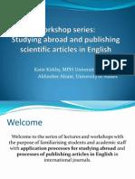 Workshop Series Presentation 1