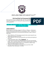 2014 land park cup rules