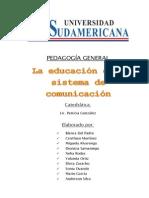 La Educación Como Sistema de Comunicación