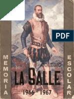 Colegio La Salle Memoria Escolar 1966-1967
