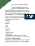 Instrumentos de Evaluacion en El Nivel Superior