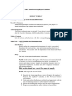 Internship Report Guidelines