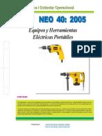 Neo40-2005 Eq y Herram Eléctr Portátiles