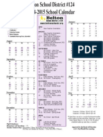 2014-15 district calendar