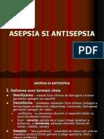 asepsie. antisepsie. instrumente