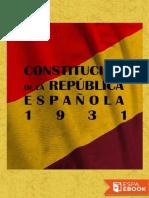 Constitucion de La Republica Espanola 1931 - Las Cortes Constituyentes