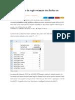 Contar Número de Registros Entre Dos Fechas en Excel