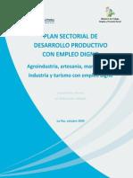 Plan Sectorial de Desarrollo Productivo Con Empleo Digno