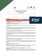 Sintesis Informativa Lunes 21 de Julio Del 2014