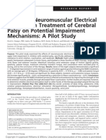 Effects of Neuromuscular Electrical Stimulation Treatment of Cerebral Palsy on Potential Impairment Mechanisms