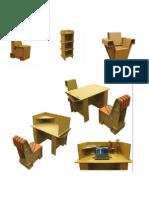 Cardboard fornitures