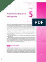 Autonomous Equations