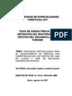 Propuesta Metodologica Para El Levantamiento de Perfiles Por Competencias de Los Puestos de Ama de Llaves y Jefe de Rrhh