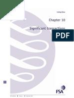 Ch 10 Substantial Transactions FSA