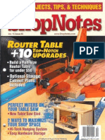 Crafts - Woodworking - Magazine - (ebook) - Shopnotes #85 - Router Table +10 Upgrades