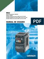 Drive OMRON 3G3MX2+UsersManual
