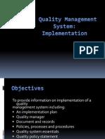 QMS Implementation Presentation