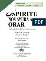 Libro El Espiritu Nos Ayuda a Orar