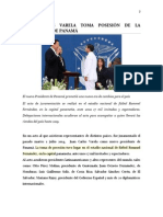 Primer Trabajo, II Trimestre. Toma de Posecion Presidente Panama y Maria Corina