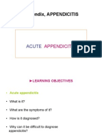 APPENDICITIS & Peptic ulcer